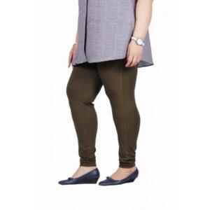 Womens plus size churi leggings full stretch soft quality fabric brown