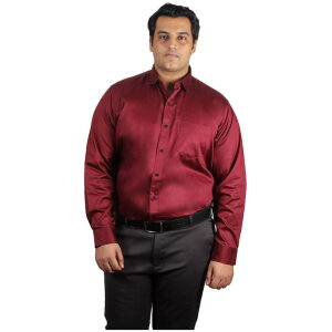 Xmex plus size mens plus size cotton satin quality formal and party shirts full sleeves mustard.