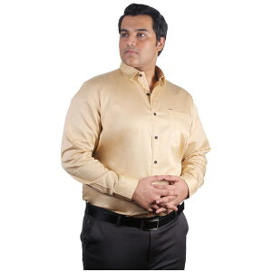 Xmex plus size mens plus size cotton satin quality formal and party shirts full sleeves steel grey.